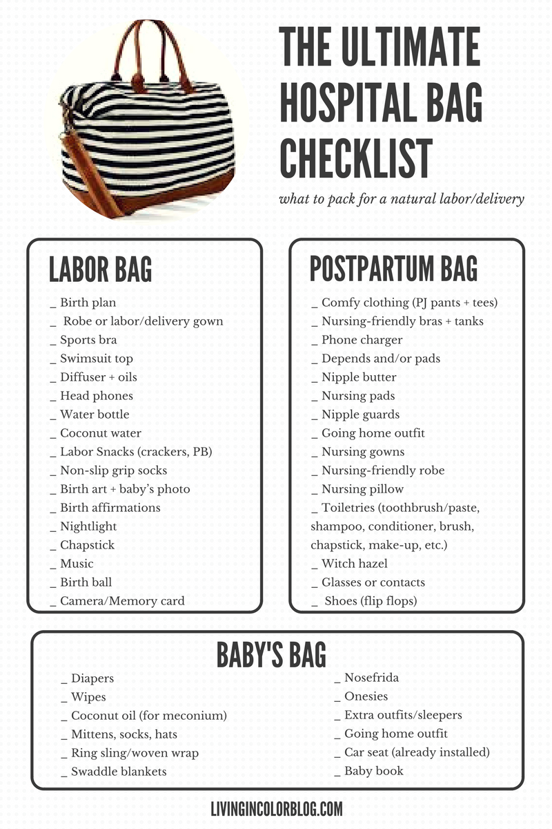 What To Pack In Your Hospital Bag Video And Free Printable