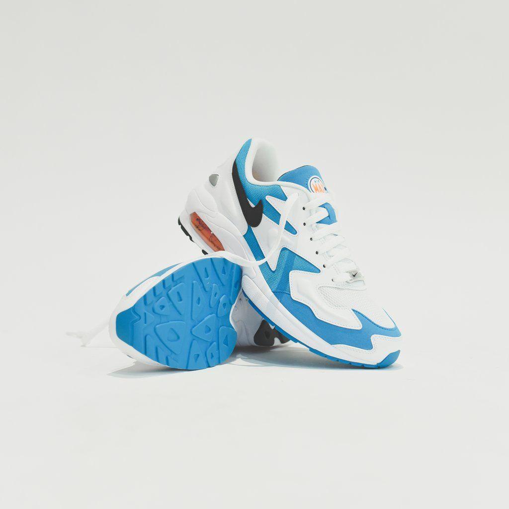 Nike Air Max 2 Light White Black Blue Lagoon Laser