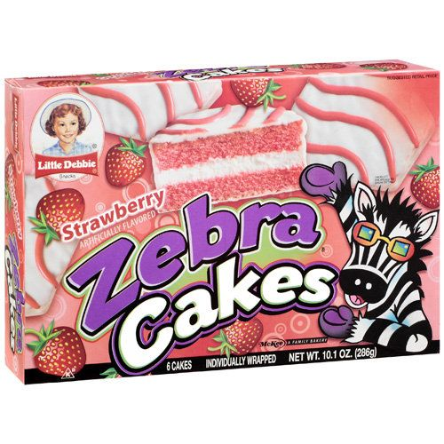 Little Debbie Strawberry Zebra Cakes Debbie Snacks Lil Debbie Snacks Little Debbie Snack Cakes