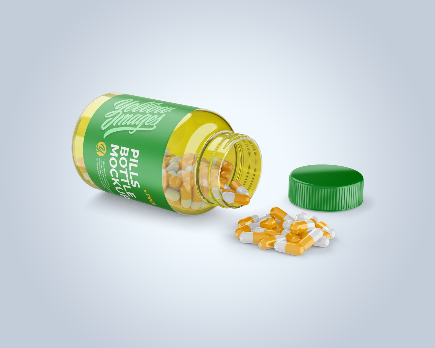 Opened Transparent Bottle With Pills Mockup To Display Your Pills Package Design In A More Efficie Free Packaging Mockup Packaging Mockup Pill Packaging Design