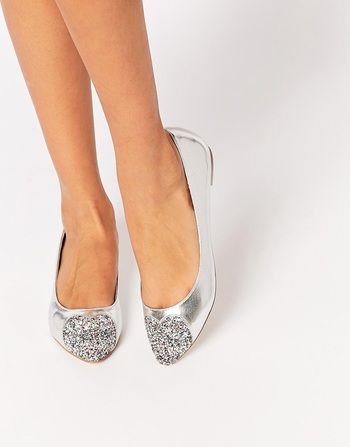 b7a3aa5eda1a6 Chaussures plates mariée, mariage civil, paillettes, argentées, wedding  shoes