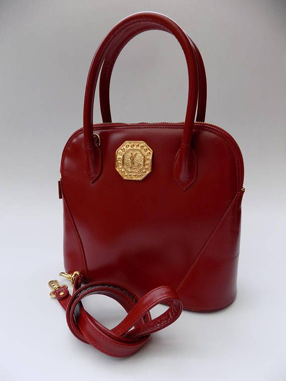 a80f9947f2eb YSL Yves Saint Laurent Vintage Red   Maroon Leather Shoulder Yves Saint  Laurent Bags