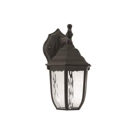 Led Outdoor Lantern Clear Water Glass 10 7 8 In Black Uses 1 6 Watt Led Integrated Panel 3554227 Multicolor Products Porch Lanterns Wall Exterio
