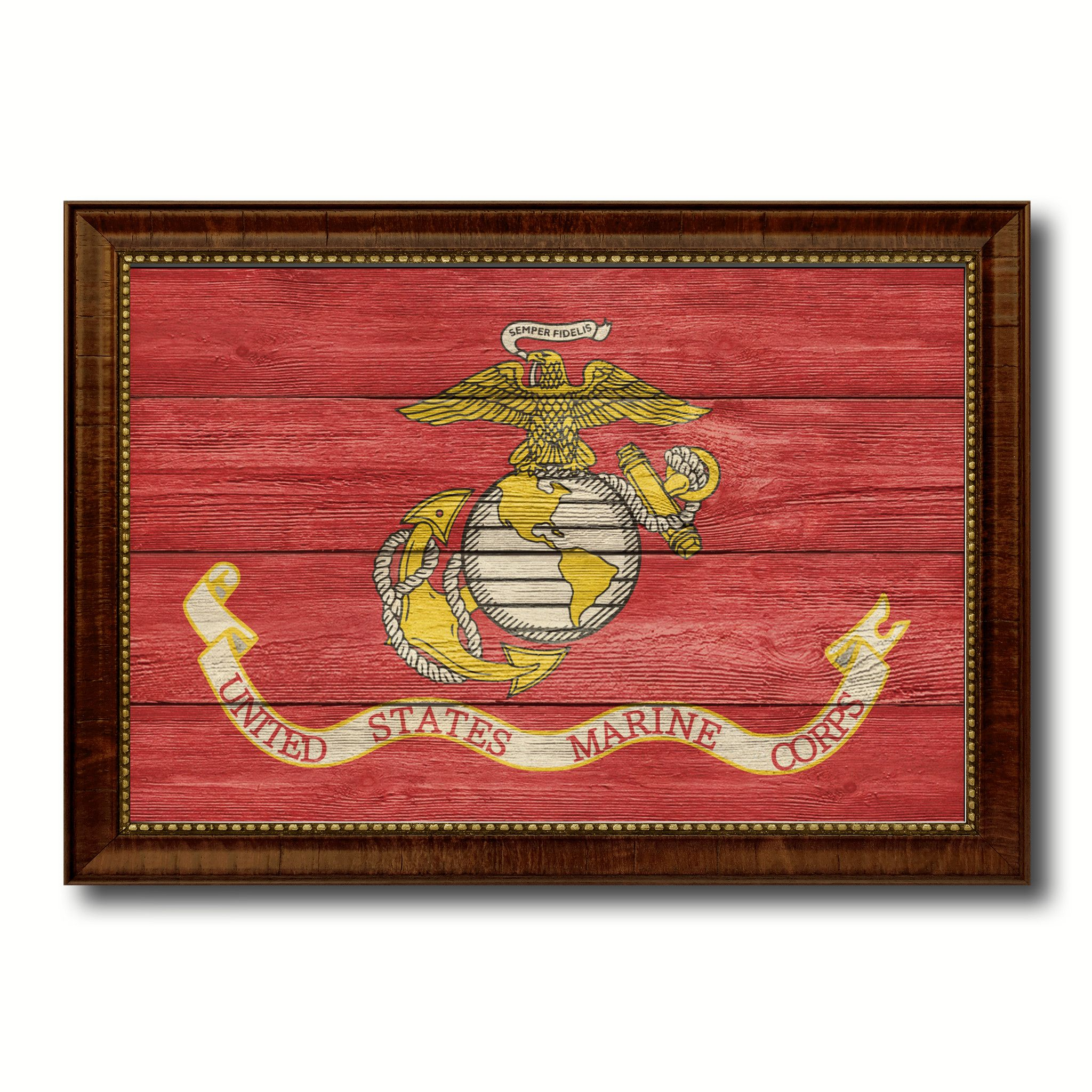 US Marine Corps Military Textured Flag Canvas Print, Picture Frame ...