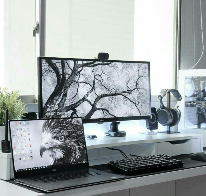 Home office #minimalstyle | Computer desk setup, Home ...