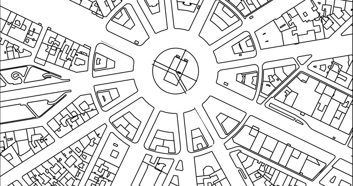 Gretchen Petersons City Maps A Coloring Book For Adults Will No Doubt Take Up All