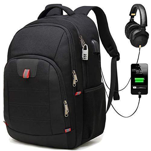 fa15f95273 promotions Antivol Sac à Dos Ordinateur Portable 17.3 Pouces Homme  Imperméable Sac a Dos PC Portable