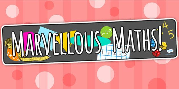 Image result for marvellous maths banner sparklebox