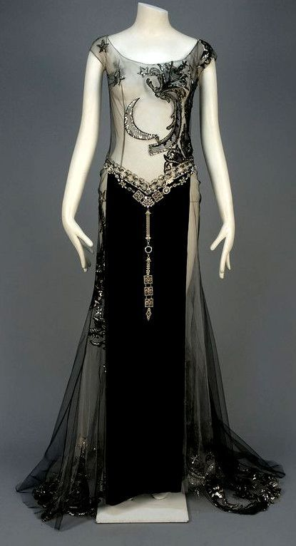 Absolutely amazing 1920s moon embellished evening gown.: | VINTAGE ...