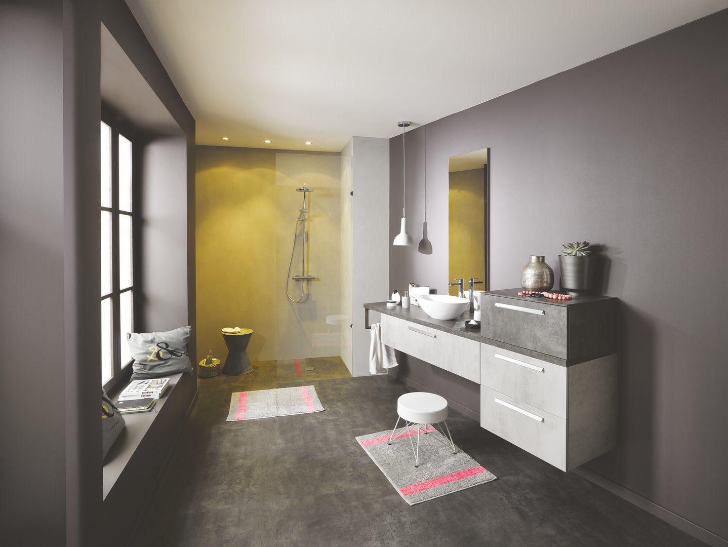 Meuble Salle De Bain Double Vasque Effet Beton ~ salle de bains label b ton clair b ton fonc le meuble sous