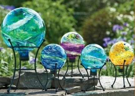 Celestial Globe Gazing Balls   Eclectic   Outdoor Lighting   By .