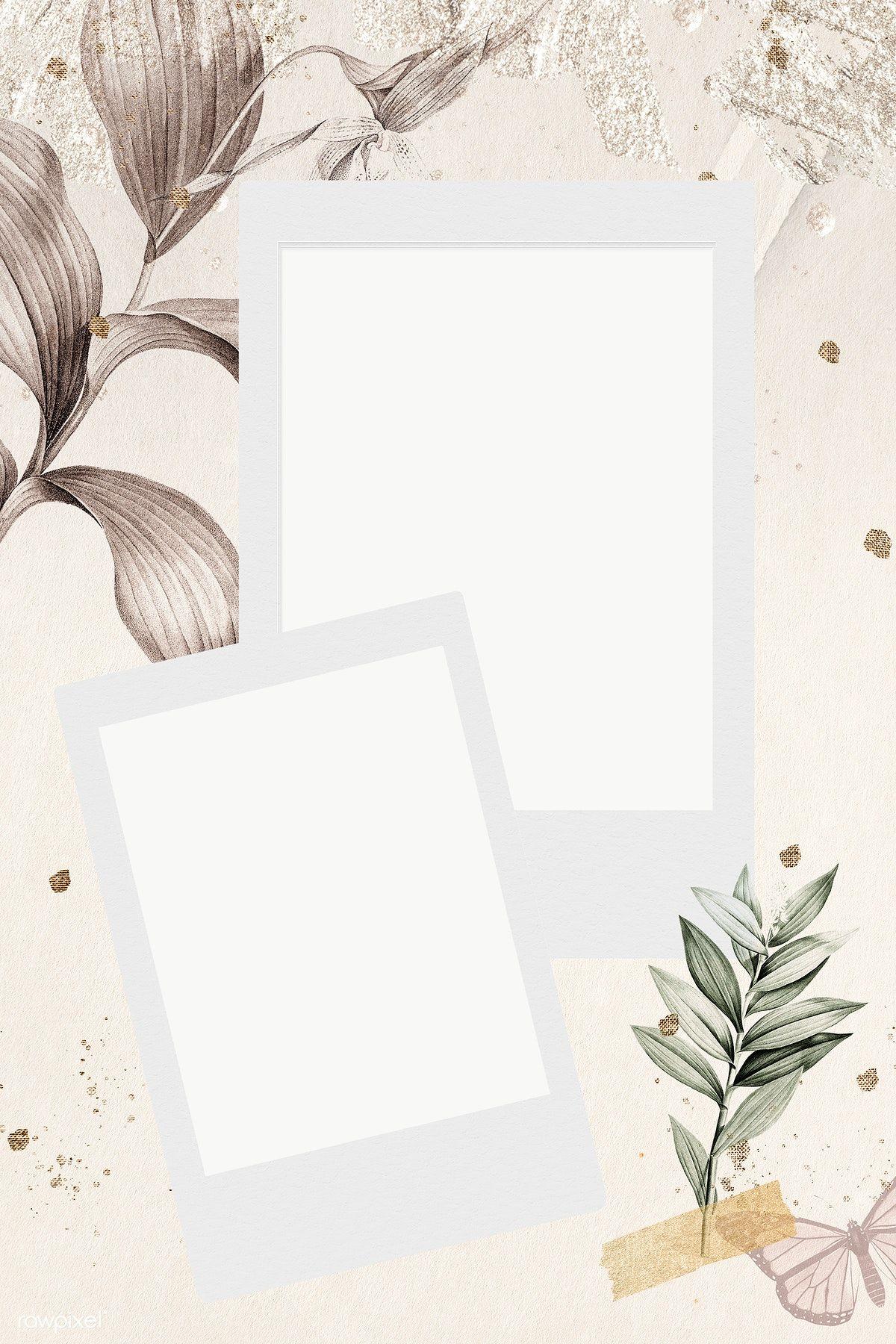 Blank Photo Frames On Tropical Leafy Background Transparent Png Premium Image By Rawpixel Com Adj Ilustrasi Poster Ilustrasi Kertas Dinding