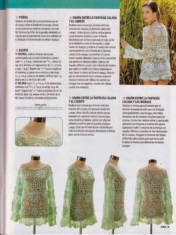 Instrucciones de blusa   boleritos y blusas   Pinterest   Blusas ...