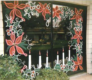 My Christmas Paintbrush Off Season For Window Painters Christmas Window Painting Painted Window Art Christmas Window Decorations