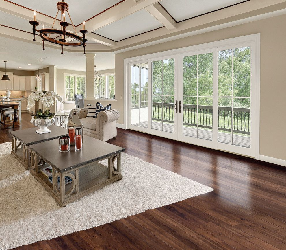 Marvin Integrity For A Traditional Living Room With A Grids And Marvin Integrity Wood Sliding French Doors Exterior Sliding French Doors French Doors Interior