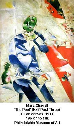 One of my faves.. saw in Philly's Picasso Exhibit: Marc Chagall's 'The Poet'