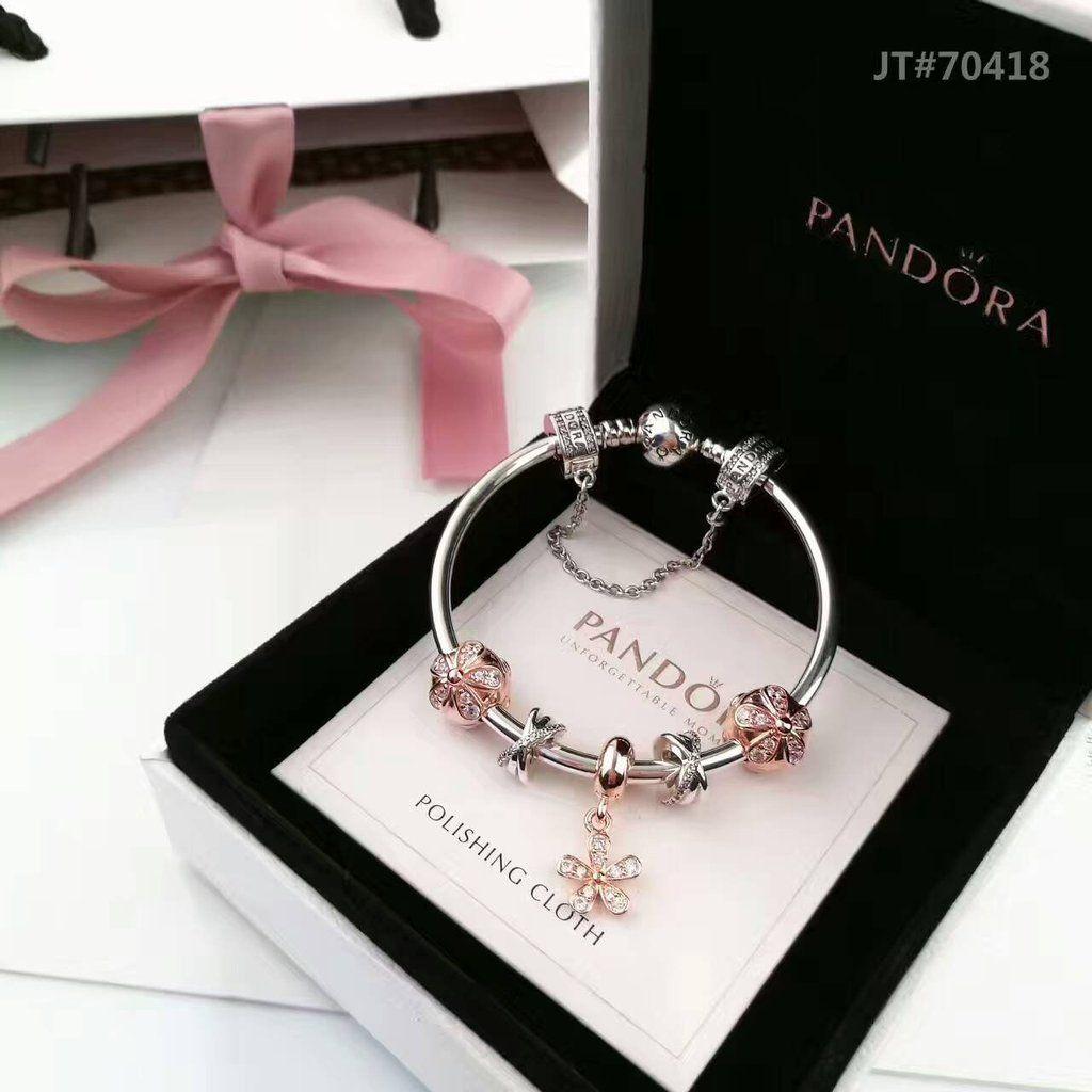 0db2bc944 Pandora bracelet with rose gold theme 5 charms in 2019 | Pandora ...