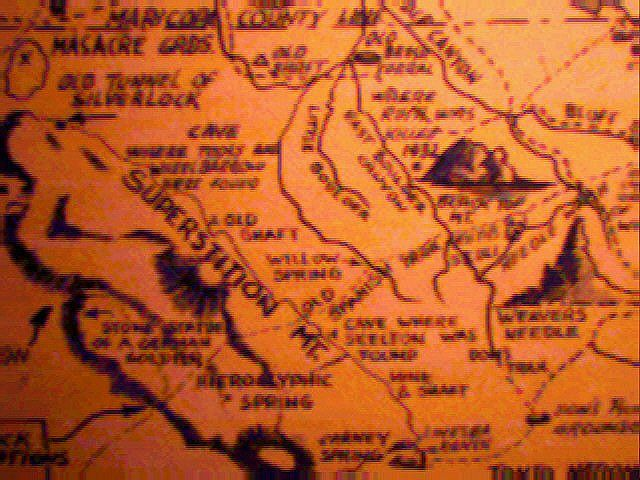 Lost Dutchman Map | Superstitions in 2019 | Gold map
