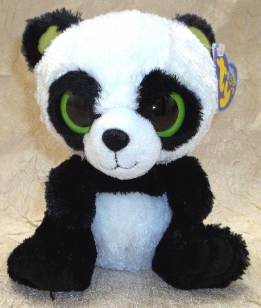a213f6c36ba Ty Beanie Boo Boos Bamboo the Panda Bear Cub 6