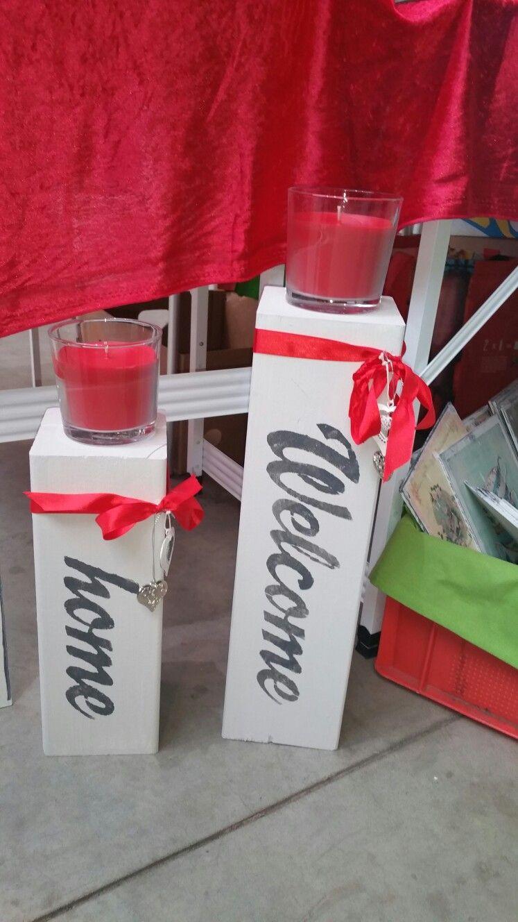 Kerzenständer Home. www.shabbywald.de