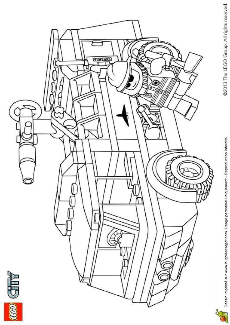 Lego City Coloring Pages Coloring Lego City Fire Truck All