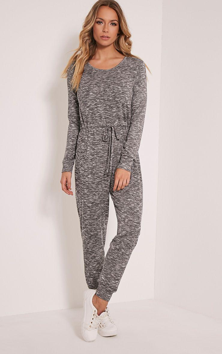 cc7ee107693 Lottie Grey Long Sleeve Casual Jumpsuit