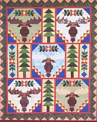 Trophy Bull Moose Quilt Pattern Moose Quilt Pattern Chickadee ... : moose quilt pattern - Adamdwight.com