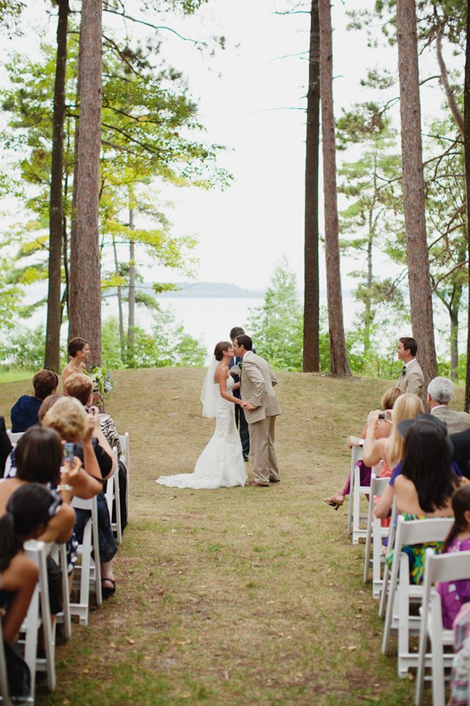 Real Wedding A Summer Michigan Our Ceremony Site