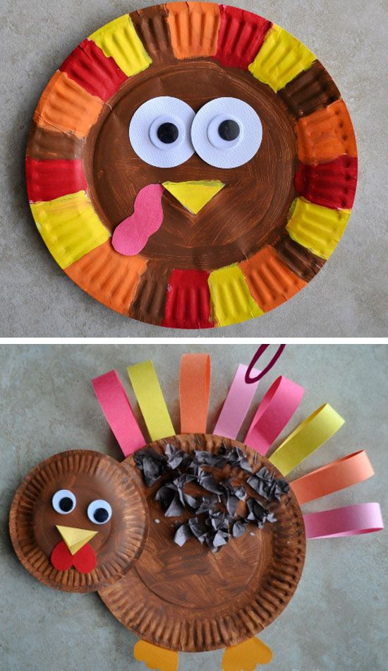 Paper Plate Turkey Click For 30 Diy Thanksgiving Crafts For Kids