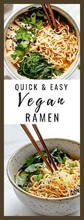 Schnelle und einfache vegane Ramen #einfache #Fitness food fast #Fitness food inspiration #Ramen #sc...