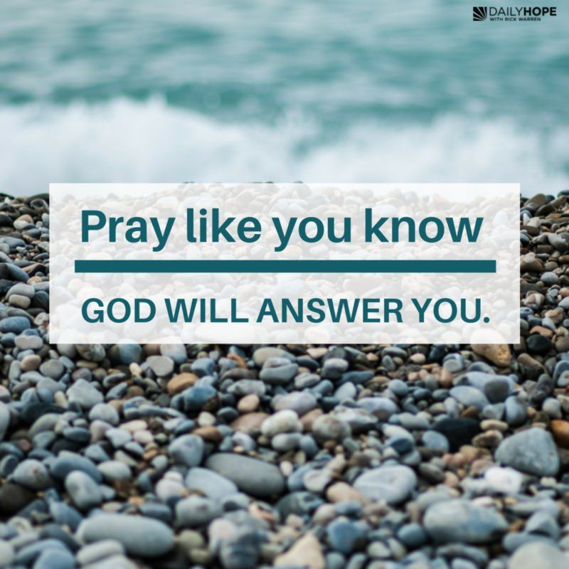 How do you learn how to pray to God?