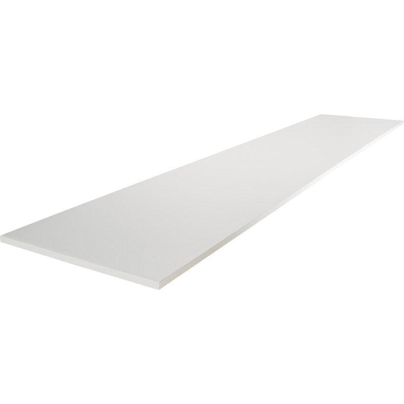 Tablette Agglomeree Blanc L 200 X L 60 Cm X Ep 16 Mm Tablette Etagere Toilette Et Blanc