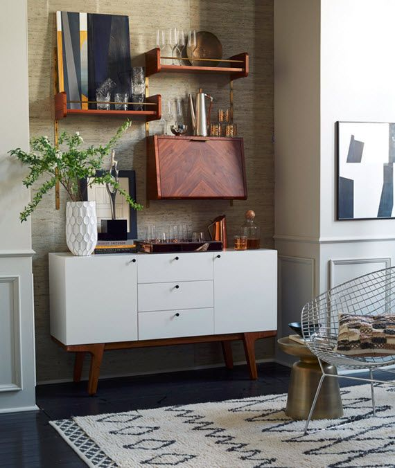 White Mid-century Modern Inspired Buffet // West Elm