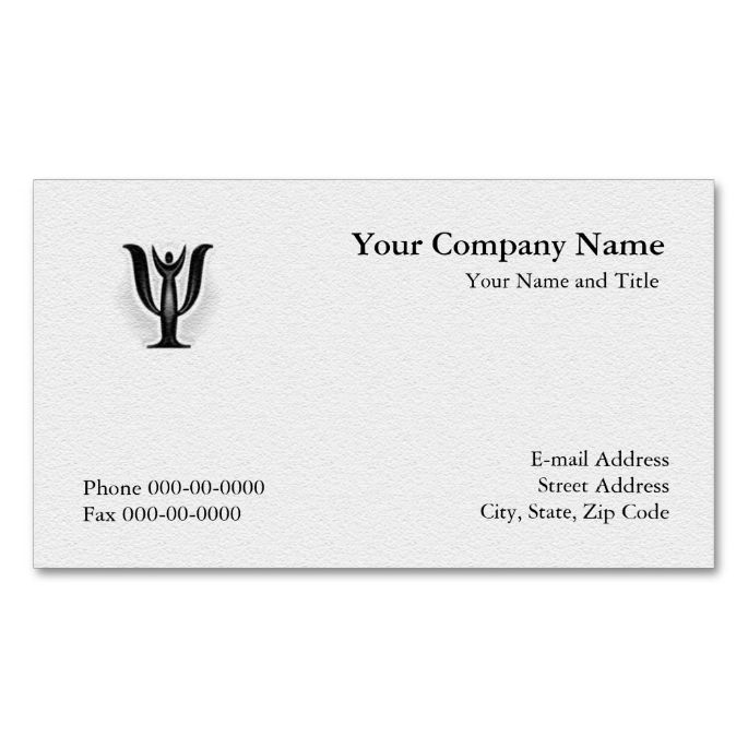 Psychologist Business Card Zazzle Com In 2021 Psychologist Business Card Psychology Business Card Teacher Business Cards