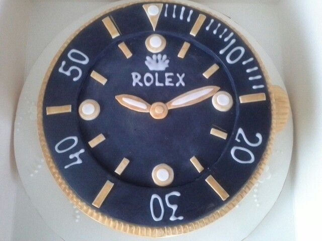 Rolex Watch Birthday Cake Top Tip Click Pics For Best Price