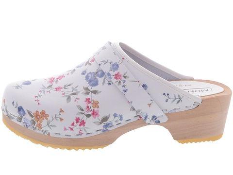 Kengät - Moheda Toffeln: 10200 Linnea White flower | Kengän ulkosivu