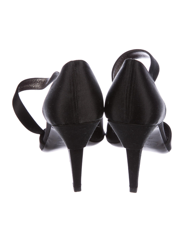 40fbc491bebf Black satin Prada ankle strap sandals with tonal stitching