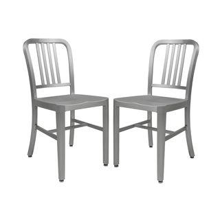 Alton Brushed Aluminum Modern Dining Chair (Set Of Idea