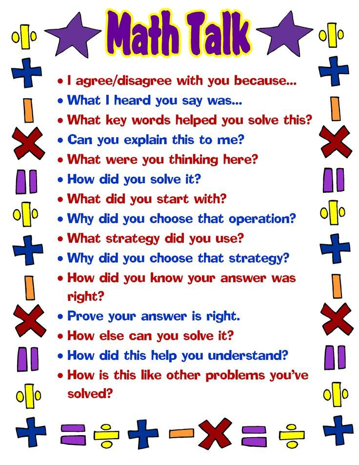 Free printable #math talk poster... great for students (and teachers ...