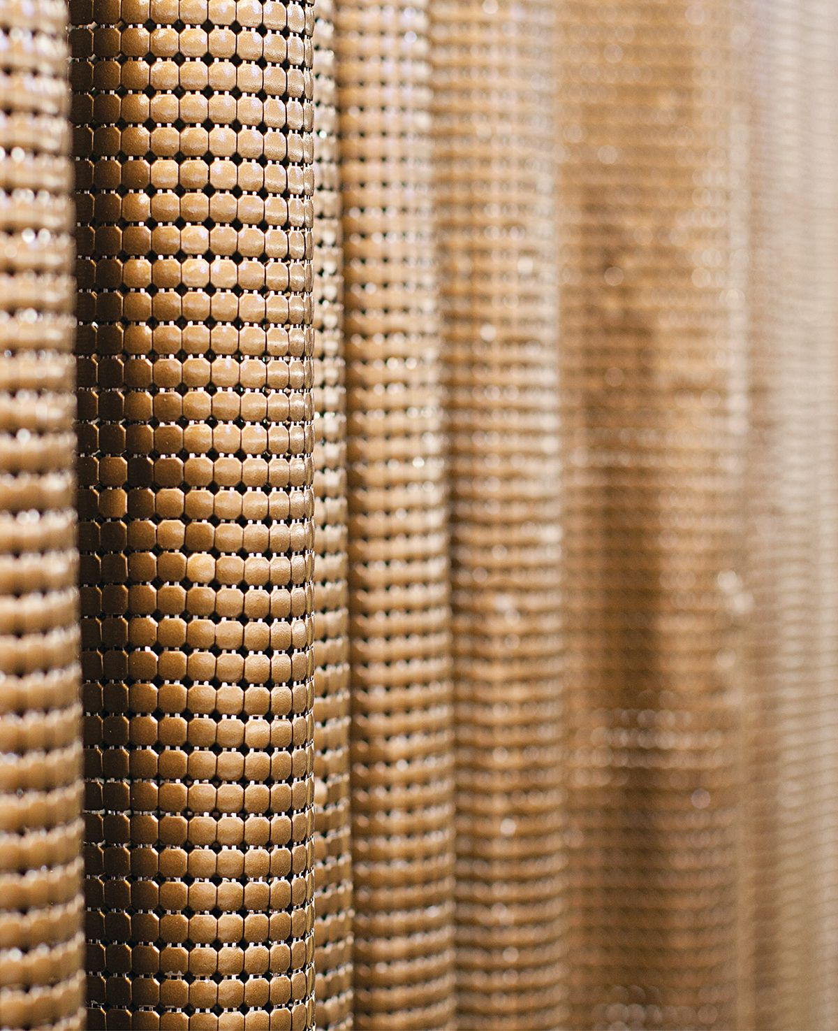 Chain Gang Wall Covering Metal Curtain Colorful Curtains