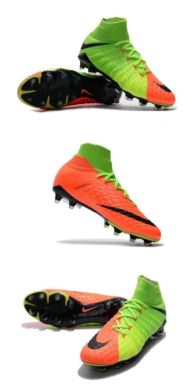 huge selection of 7c981 8b47a Chaussure de Football - Nike HyperVenom Phantom III FG Homme - Vert Orange  Noir