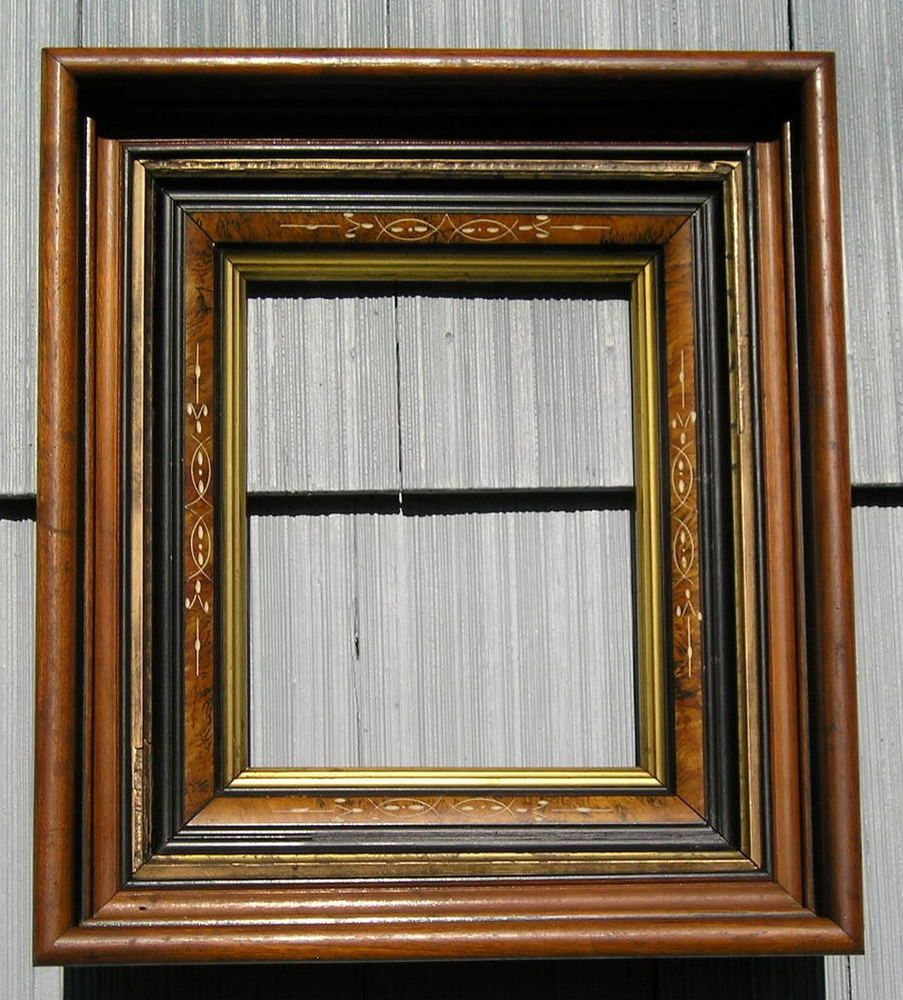 Antique Aesthetic Carved Eastlake Victorian Deep Picture Frame 8 X 10 Victorian Deep Picture Frames Eastlake Picture Frames