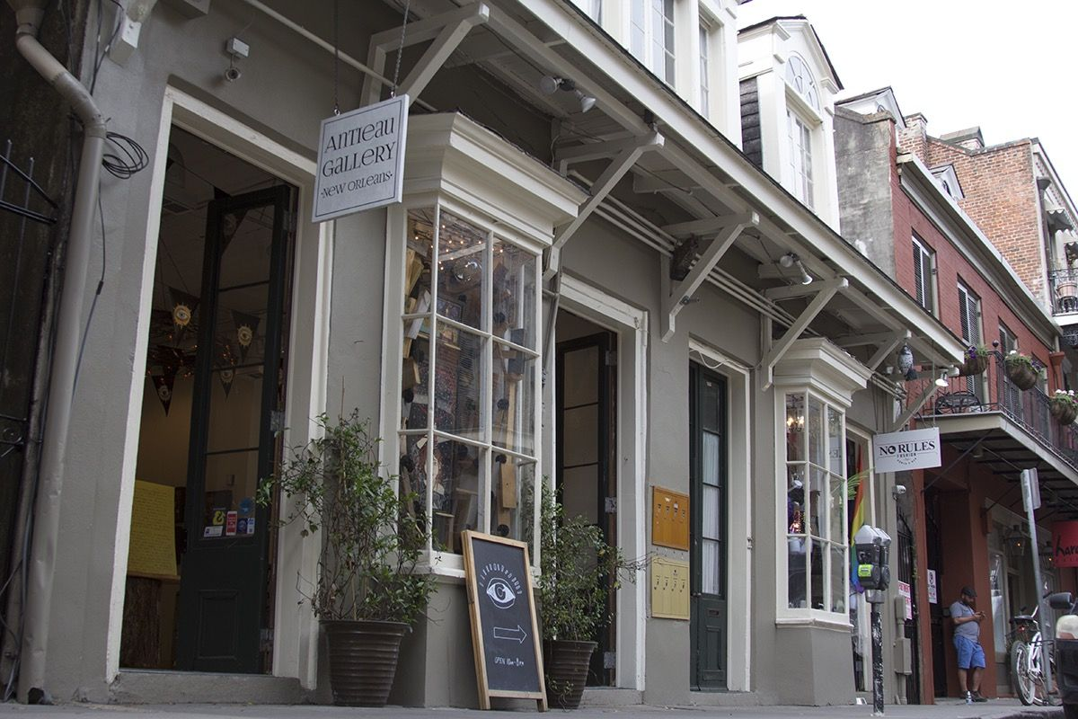 Antieau gallery in the french quarter magazine street
