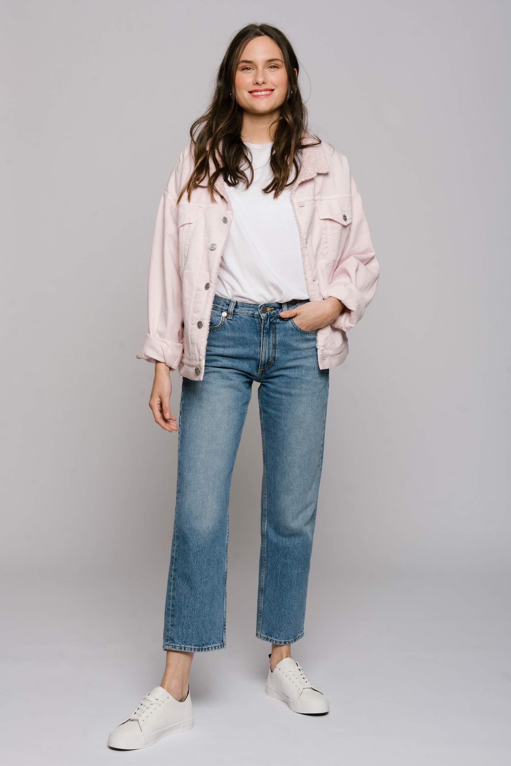 The Perfect Pink | Oversized denim jacket, Pink denim jacket