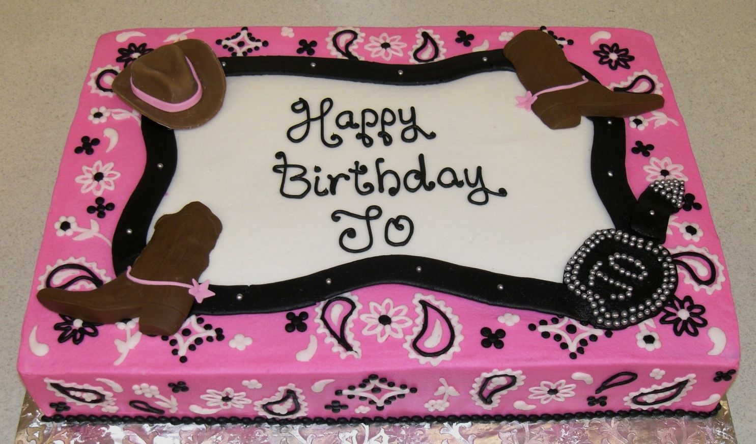 Outstanding Western Pink Bandana Jpg 1 485872 Pixels With Images Cowgirl Funny Birthday Cards Online Chimdamsfinfo