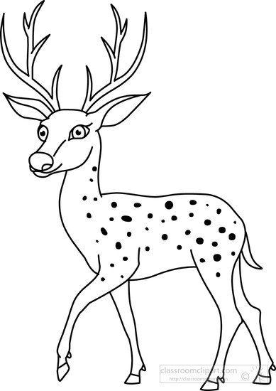 Pin von Eva Gubik auf animal coloring | Pinterest | Deer, Clip art ...