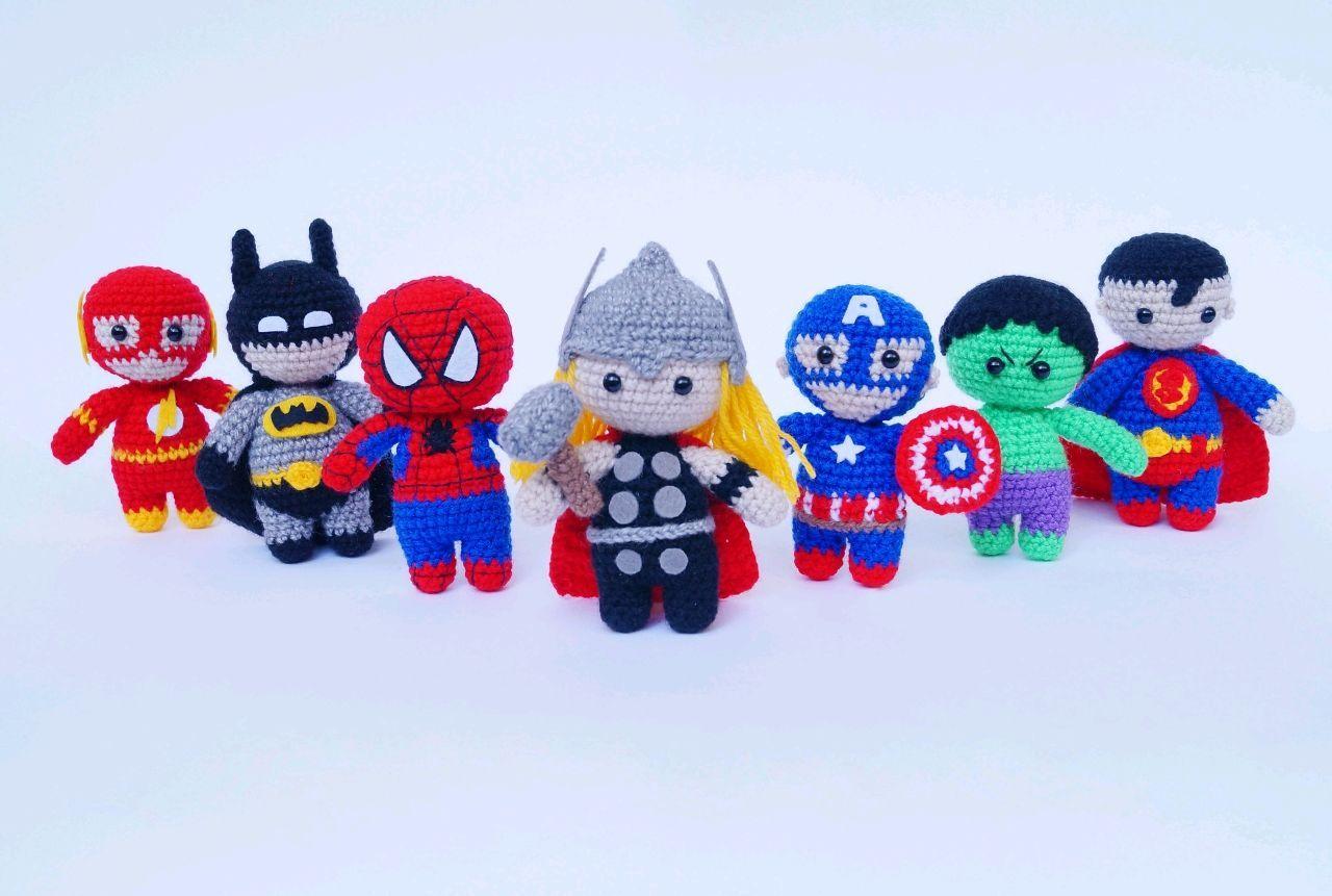 Супергерои: Тор, Дэдпул, Бэтмен, Халк, Человек-Паук ...