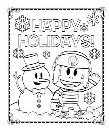 Get in the holiday spirit with this Julius Jr. coloring