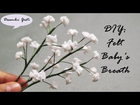 How To Make Felt Baby S Breath Membuat Bunga Baby Breath Dari Kain Flanel Youtube In 2020 Felt Crafts Flowers Felt Flower Bouquet Felt Flowers Diy