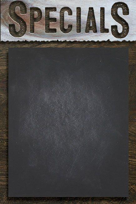 Specials Menu Board Template Chalk Art Menu Template